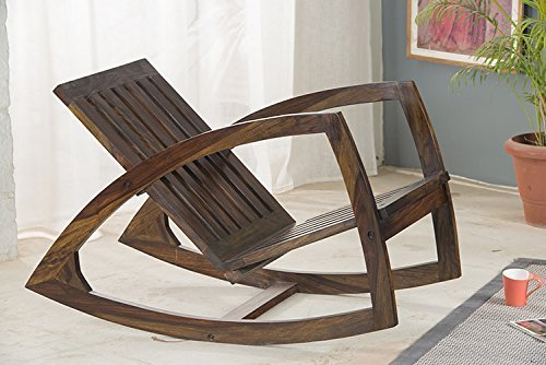 Wooden Brown Stylish Rocking Chair