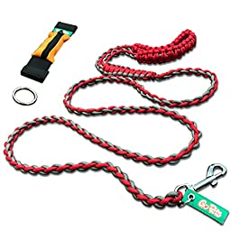 Dog Leash by GoPets, 6 ft Sturdy Nylon Paracord Rope, For Small Medium or Large Dogs Includes Free Bag And O-Ring For Pet Training Lead Collar