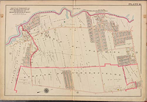 Reprinted 18 x 24 1912 Map of Philadelphia, Pa. A New North America with the West India Islands divided according to the preliminary articles of peace, signed at Versailles, 20, Jan. 1783, whe 0 0 29a by Vintography