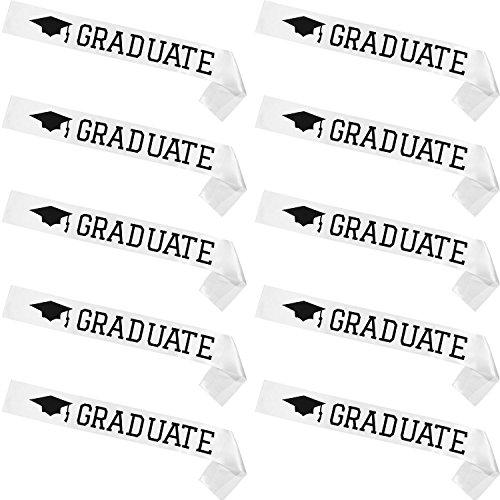 Maxdot Graduation Party Supplies Graduate Sash Unisex Satin Sash, Pack of 10 Pieces (Style -