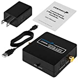 Fosmon 2-Way Digital Audio Converter, Optical Coaxial to/from Toslink Adapter Splitter with 5V USB AC Adapter & Mini USB Cable (Black)