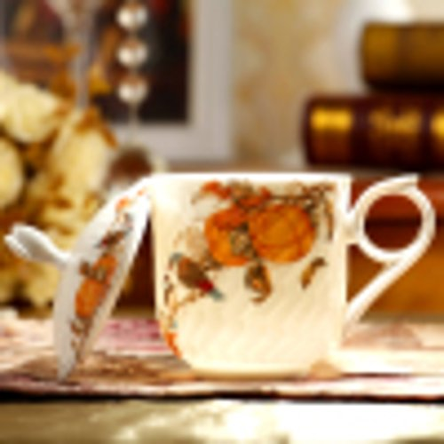 ceramic glass/Creative bone China tea cup cover/ mugs/ ceramics drinking cup-B