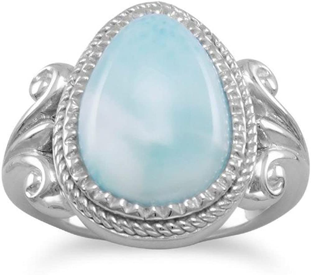 DV Jewels Pear Shape Larimar Ring