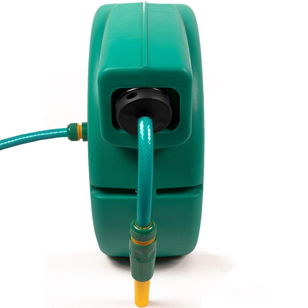 Deuba 20m Garden Hose Reel Automatic Retractable with Connectors ...