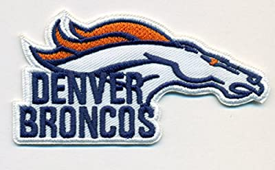 Denver Broncos Embroidered w/ Name Iron On Patches Hat Jersey 3 1/2 x 1 3/4