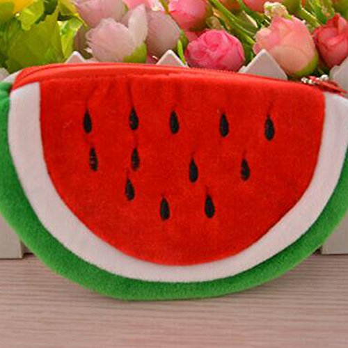 Red L Cute Red Bag 10cm Zipper Coin Sanwood® Pouch x Watermelon Girl Purse 20cm Pouch Shape Pencil Case Makeup Lady Pen Cosmetic 1EnaAqxwRE