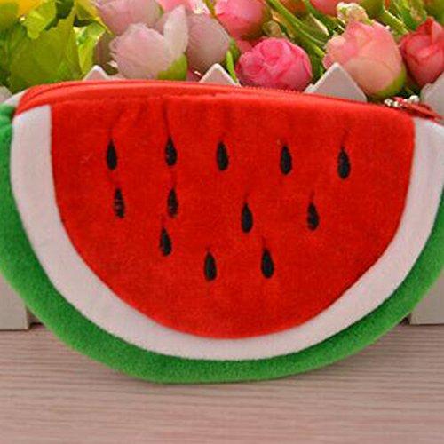 Bag Purse 20cm Girl Lady Makeup Zipper Pencil Sanwood® Pouch x Red Cute Watermelon L Pen Coin Cosmetic Shape Case 10cm Red Pouch TPxxqZw54