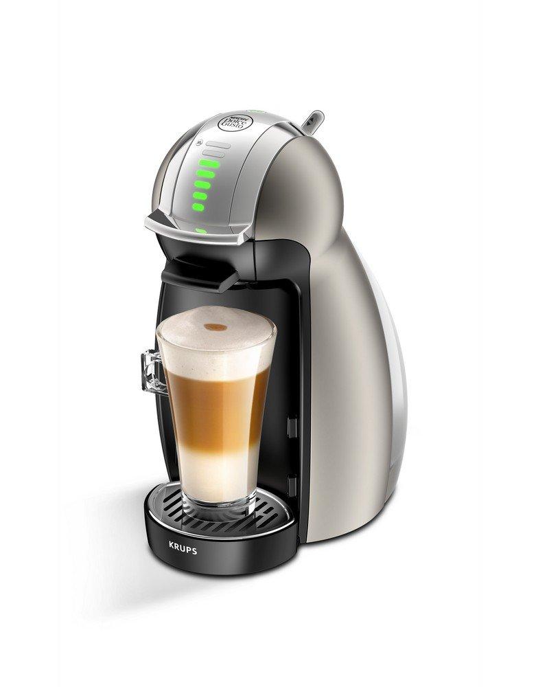 Krups yy1784fd máquina de café de cápsulas de Nescafé Dolce Gusto Genio Plus titanio automático calidad profesional presión 15 Bars Large elección de ...