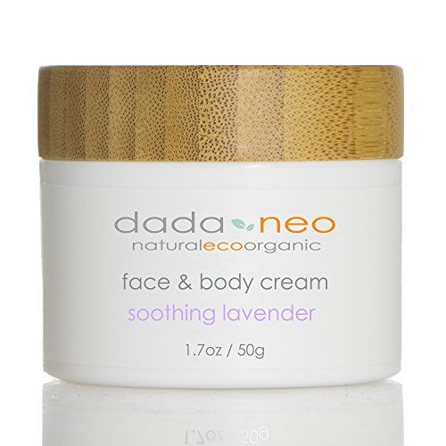 Dada and Neo's Natural Certified Organic Soothing Lavender Baby Cream With Shea Butter; Bee's Wax; Aloe; Organic Baby Cream for Face and Body Revitalize Baby Dry Skin 1.7 oz …