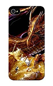DTTAgP-4760-KoMYC Tpu Phone Case With Fashionable Look For Iphone 5/5s - Dragon Guarding The Treasure Case For Christmas Day's Gift