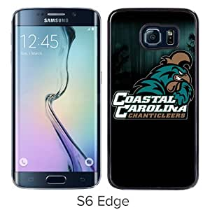 NCAA Big South Conference Coastal Carolina Chanticleers 4 Black Popular Sell Customized Design Samsung Galaxy S6 Edge G9250 Case