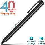 iPad Stylus Pen,Active Capacitive Digital Pens Supporting 40-Hour Playing Time 30-Day Stand-by 120-second Auto Power off with 3 Replaceable Fine Point Rubber Tips Touchscreen Styli for iPad