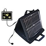 Gomadic SunVolt Powerful and Portable Solar Charger suitable for the Maylong FD-350 GPS For Dummies - Incredible charge speeds for up to two devices
