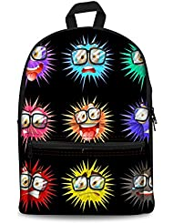 HUGS IDEA Funny Cute Emoji Backpack for Teen Girls School Bag