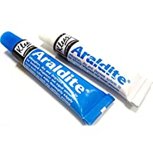 Araldite Epoxy Resin Glue 2 Part Clear Epoxy Adhesive Transparent Quick Dry 26g by Araldite