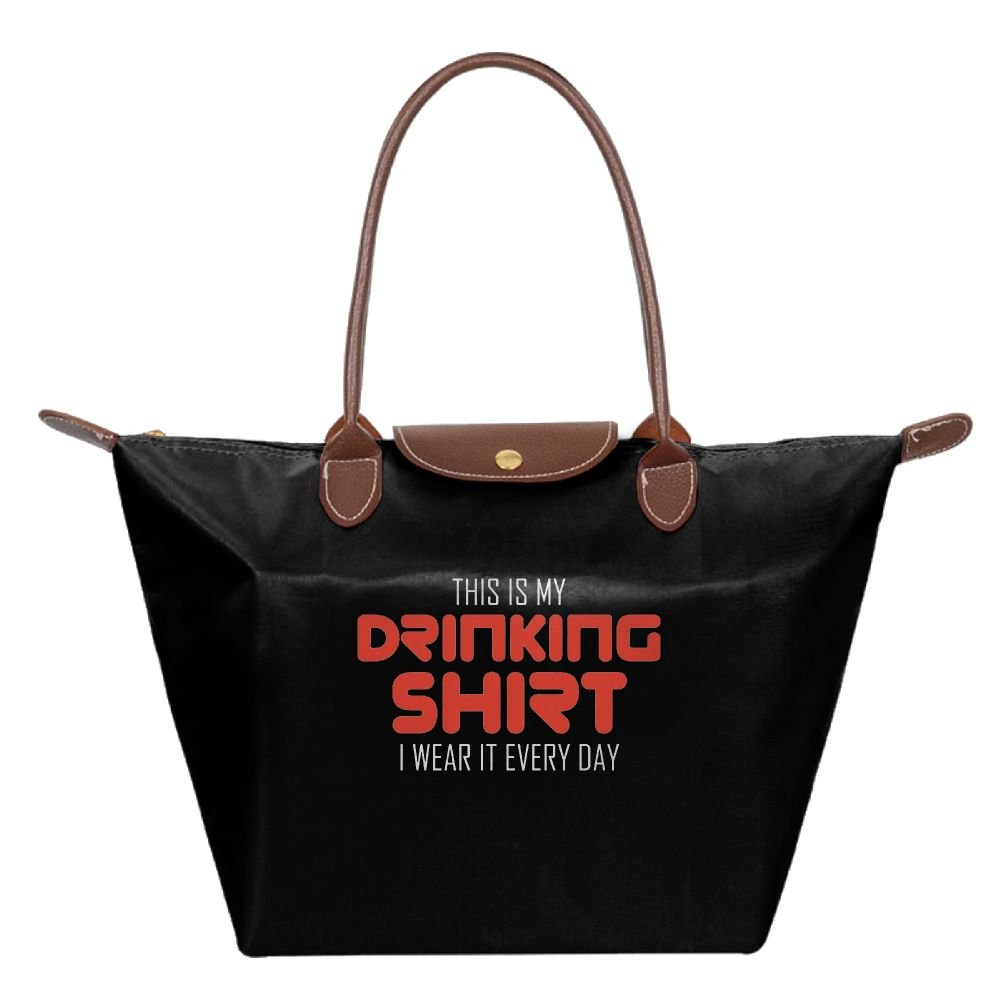 Adwelirhfwer Unisex This Is My Drinking T-shirt, I Wear It Everyday Baby Bag Black