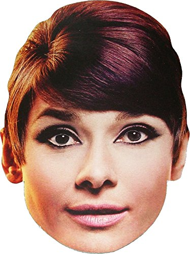 Bogart Costume (Hollywood Star - Audrey Hepburn - Card Face Mask)