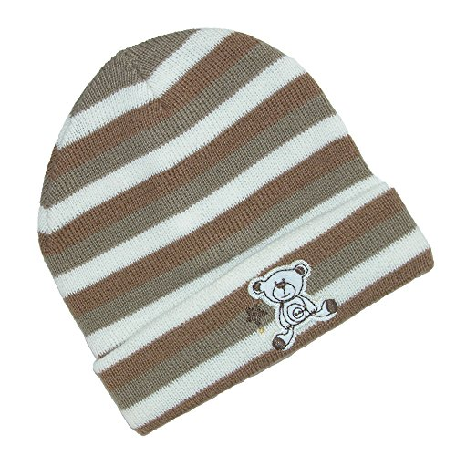 Extra Bold Caps (CTM Infant Knit Striped Cuff Cap, Tan)