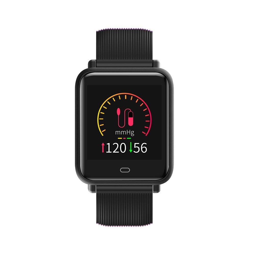 Decooler Q9 Smart Watch Sport Bracelet SMA Band Fitness Tracker IPS Calories Heart Rate Sleep Monitor Call Reminder Wrist Band for iPhoneX Plus Samsung S6 S7 Plus Smartphones iOS Android Devices