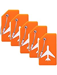 Silicone Luggage Tag With Name ID Card Perfect to Quickly Spot Luggage  Suitcase (Plane 5Pcs 53c346cacb338