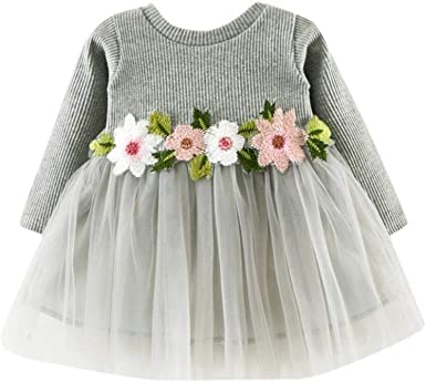 Summer 0-24Months Infant Toddler Baby Girls Short Sleeve Lace Dress Party Dress