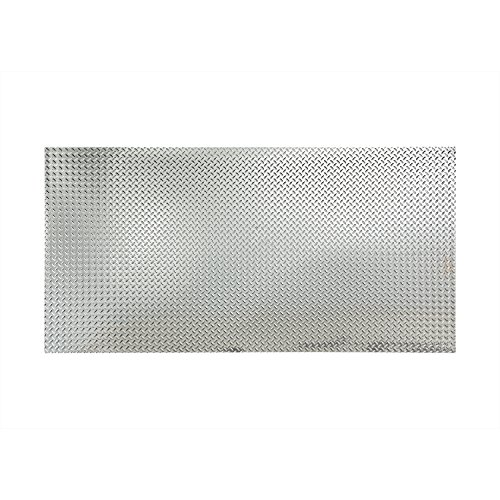 Fasade - Diamond Plate Chrome Decorative Wall Panel - Fast and Easy Installation (4' X 8' Panel) by Fasade