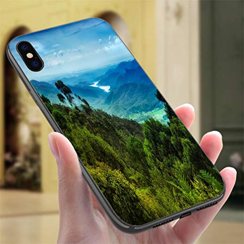 Creative iPhone Case for iPhone Xs MAX Views Over Lamington National Park Resistance to Falling, Non-Slip,Soft,Convenient Protective Case - Lamington National Park