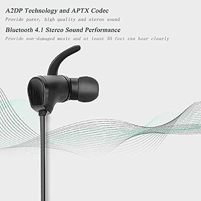 Bluesim Wireless Bluetooth 4.1 Headphones, Lightweight Headset, In-ear Earphones with Microphone