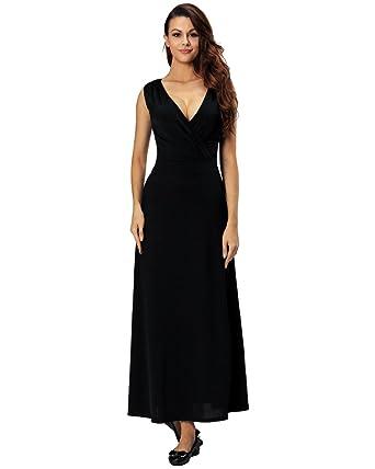 Aofur Womens Elegant Sleeveless Long Maxi Evening Cocktail Party