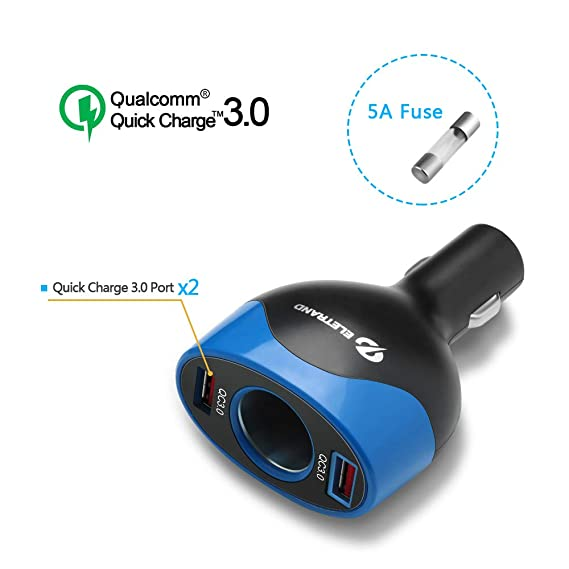 Audio & Video Accessories Car Electronics & Accessories Fast Charger 24V New Multi-Function one for Two Thousand Flash Type 12V Mini car Charger-Blue