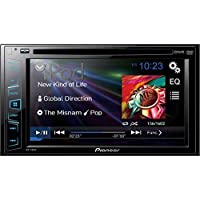 Pioneer DVD/CD/USB Receiver with 6.2 DOUBLE-DIN Touchscreen Display, Features Powerful MOSFET Amplifier, Built-In iPod, iPhone, and iPad Control, 3 Color Background Illumination Options, Cool Blue Lighting Buttons
