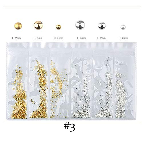 Kamas 1 Pack Mixed Hollow Metal Frame 3D Nail Art Decorations Rose Gold Heart Star Moon Ocean Seashell Metallic Studs Rivets Accessory - (Color: 03)