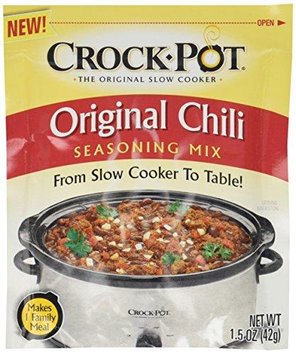 Crock Pot Original Chili Seasoning Mix (1.5 oz Packets) 3 Pack (Chili Packet Mix Seasoning)