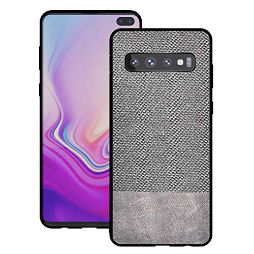 - Mayround Compatible for Samsung Galaxy S10 Plus Case,3D Fabric Cloth Rugged Leather Shockproof Case Cover Compatible for Samsung Galaxy S10 Plus 6.4inch (Splice Gray)