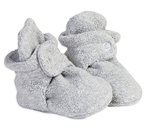 COZZEIOS BABY FLEECE BOOTIES (0-3 Months, Heather Grey) - Preemie Booties
