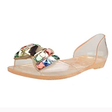 8d067fcd681b27 DENER Women Ladies Summer Plastic Jelly Sandals