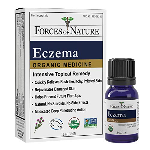 Forces of Nature - Natural, Organic Eczema Care (11ml) Non GMO, No Harmful Chemicals or Steroids -Relieve Dry, Itchy, Red, Irritated Skin while Soothing, Restoring Skin