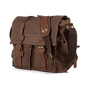 Amazon.com: TFCFL Men's Shoulder Bag Vintage Military ...