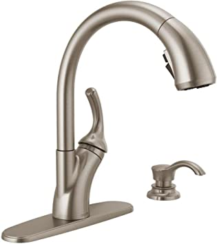 Delta Shiloh Single Handle Pull Out Sprayer Kitchen Faucet With Shieldspray In Spotshield Stainless Amazon Com