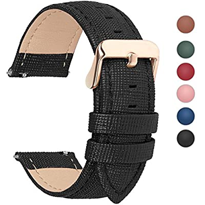 Quick Release Watch Band, Fullmosa Leather Replacement Wrist Strap for Men & Women 18mm 20mm 22mm 24mm