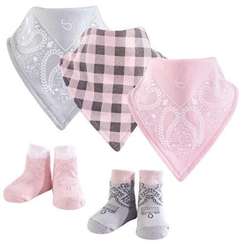 Hudson Baby Baby Bandana Bib & Socks Set, 5 Piece, Cowgirl 0-9 Months -
