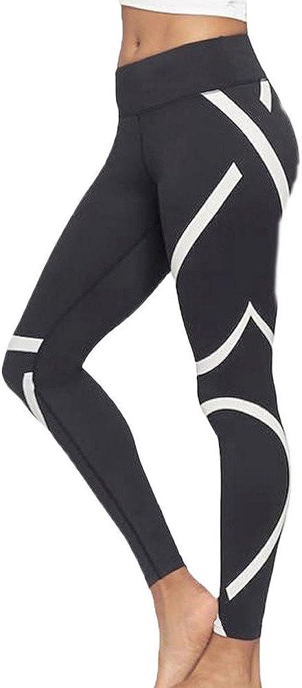 Lookatool Women's Splice Yoga Skinny Workout Gym Leggings Sports Cropped Pants