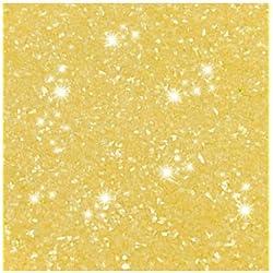100% Edible Glitter - Pastel Lemon Yellow - for Cake and Cupcake decorating - Fully Edible Cake Glitter Rainbow Dust