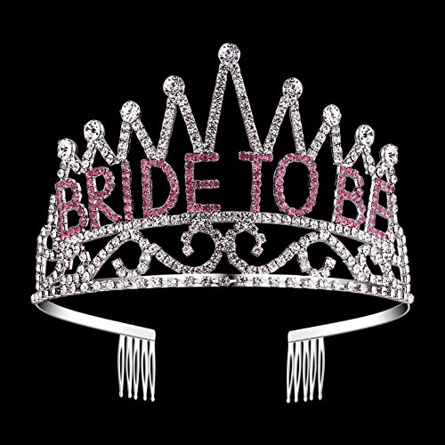 BABEYOND Rhinestone Crystal Bride to Be Corwn Tiara