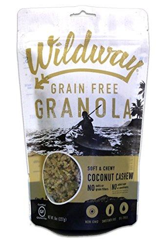 Wildway Vegan Granola | Coconut Cashew | Certified Gluten-Free, Grain-Free, Paleo, Non-GMO, No Artificial Sweetener, 8oz