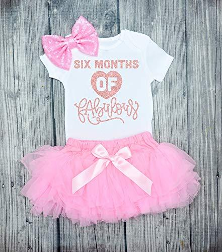 Half Birthday Outfit Baby/'s Birthday Arrows Half Birthday Bodysuit Glitter Bodysuit Baby/'s Half Birthday