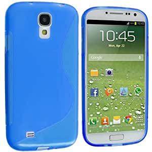 Accessory Planet(TM) Blue S-Line TPU Rubber Skin Case Cover Accessory for Samsung Galaxy S4