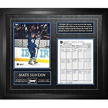 Frameworth Mats Sundin-Framed Scoresheet and Photo and Net-Toronto Maple Leafs All-Time Scoring Leader
