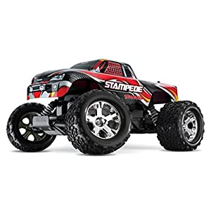 Traxxas Stampede 1/10 Scale 2WD Monster Truck with TQ 2.4GHz Radio, Red