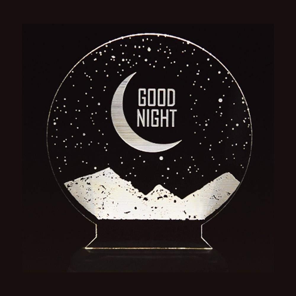 W-LI Led-Schreibtischlampe, Led-Nachtlicht mit Exquisit Bemaltem Moonlight-Design-Duftlampe
